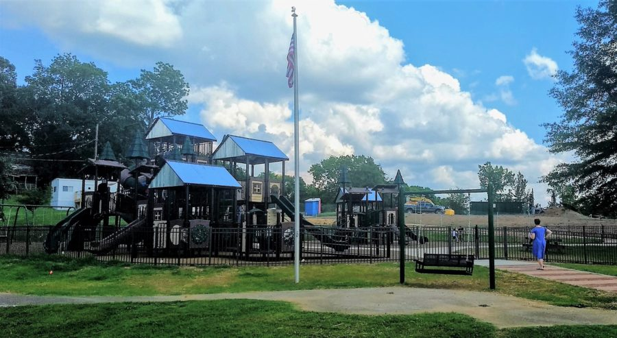 Red Caboose Park dedication delayed, but new playground is open