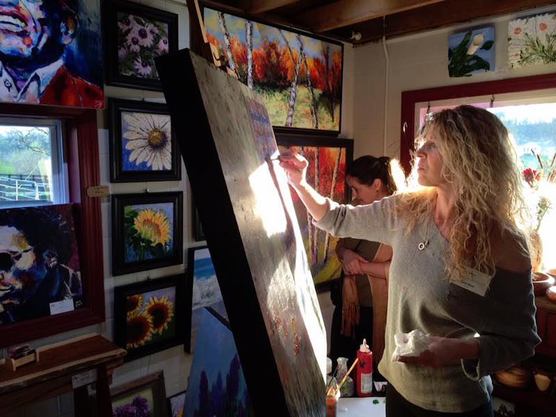 Franklin artist expresses lifelong passion for colors and contrast in her work