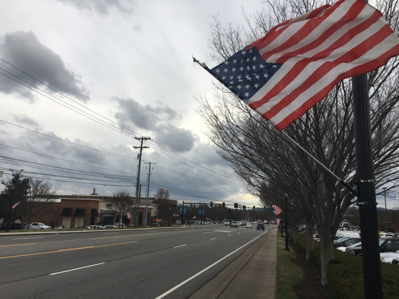 Behind the Franklin Road flags: Hillsboro Brentwood Exchange Club