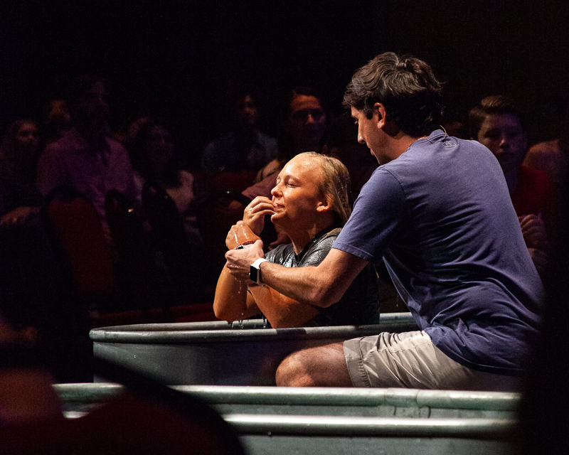 Brentwood Baptist connects with community ahead of new school year through baptisms