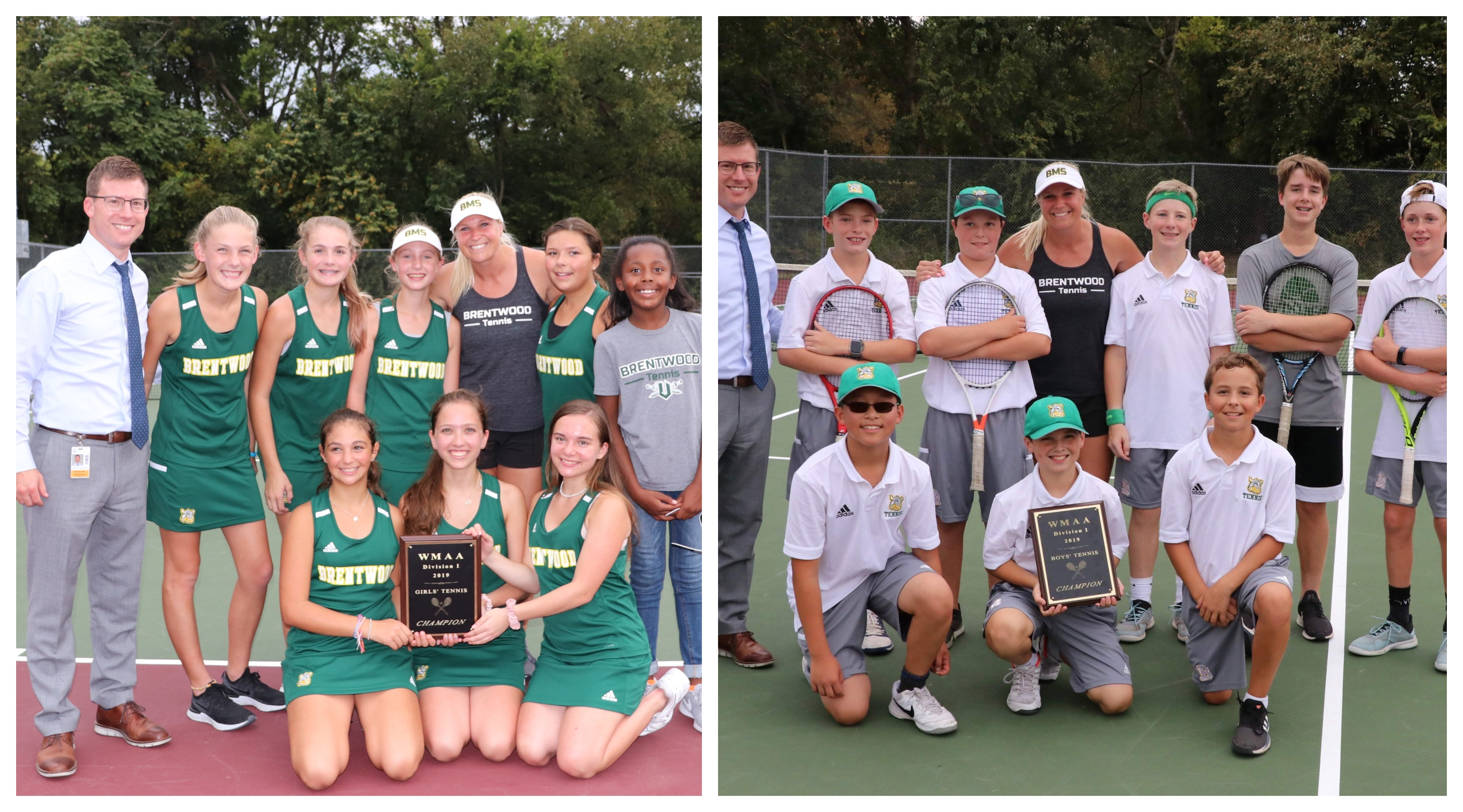Brentwood Middle School tennis teams sweep WMAA D-I Tennis Championships