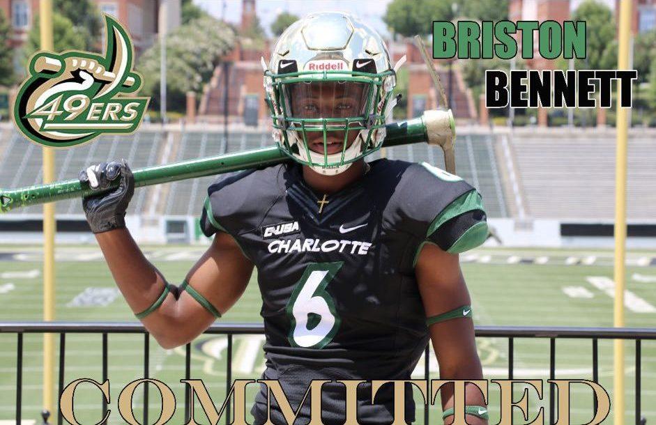 BGA football's Briston Bennett commits to Charlotte
