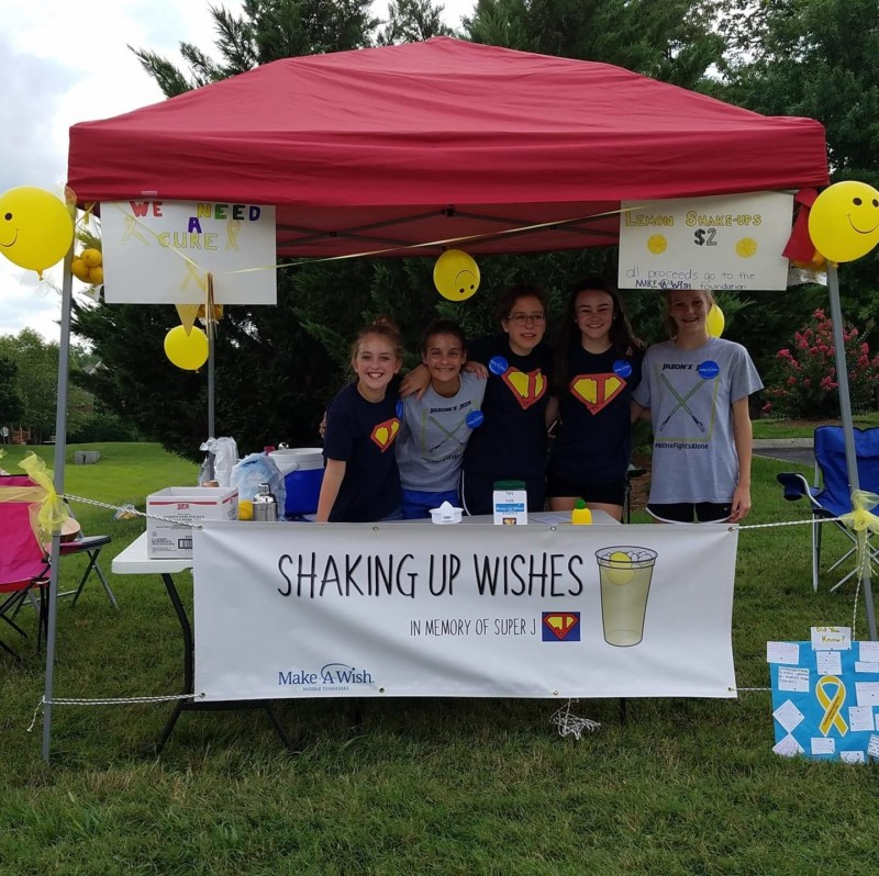 Local lemonade stand donates $1,800 to Make-A-Wish of Middle Tennessee with help from Brentwood insurance group
