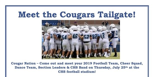 Centennial preps 'Meet the Cougars Tailgate' for late July