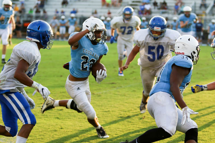 PHOTOS: BGA, Centennial football teams engage in scrimmage