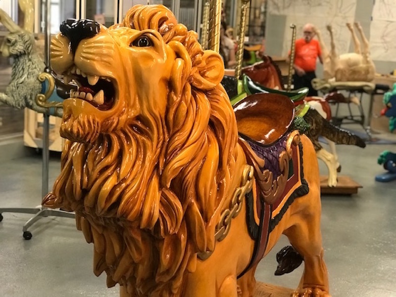 Master carver, painter makes his way to The Factory at Franklin with array of carousel animals