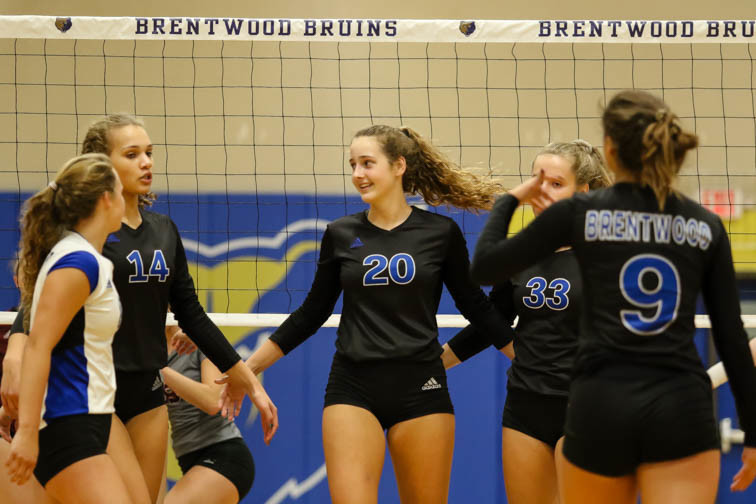 PHOTOS: Brentwood volleyball continues undefeated season in Franklin win