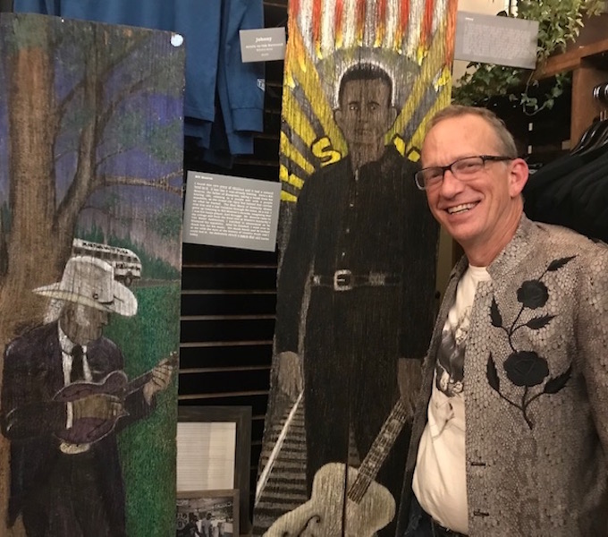 Former rock drummer now creating a different beat, has first-time showing at Franklin Art Scene