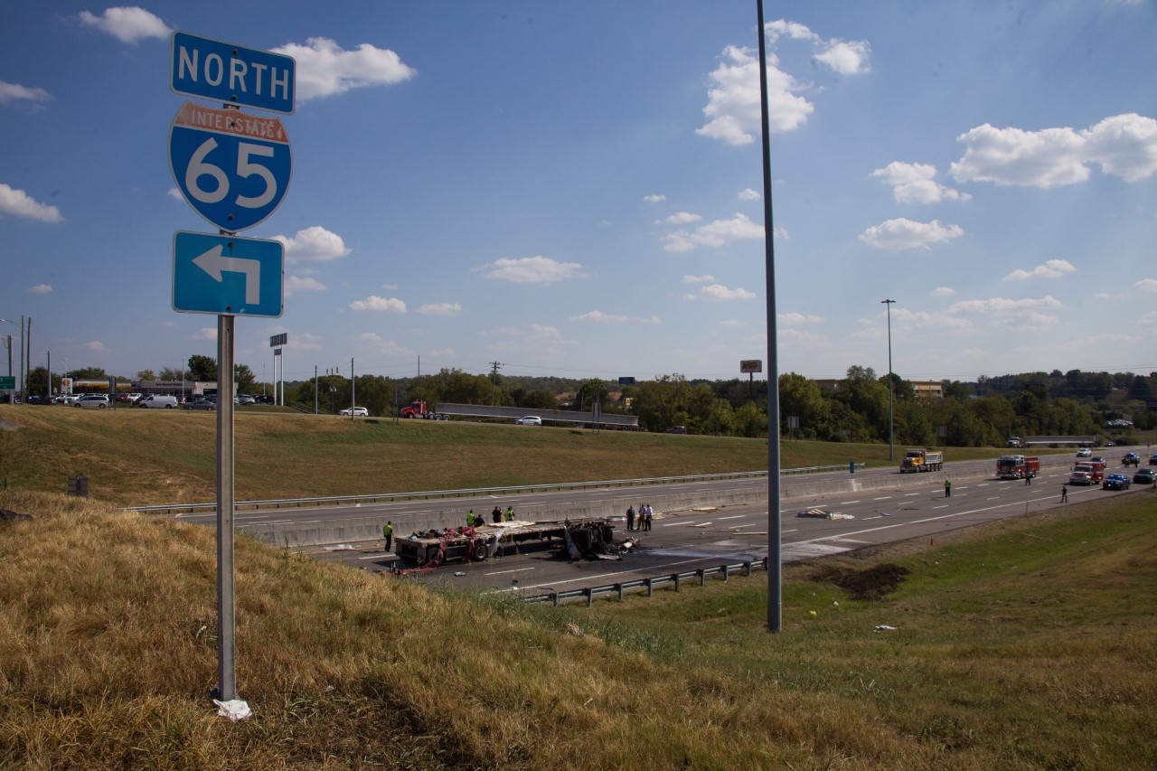 Driver dies after last week's I-65 tractor trailer crash