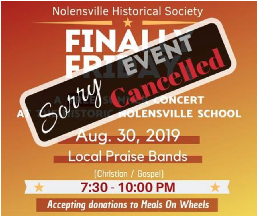 Nolensville Finally Friday Concert to be rescheduled