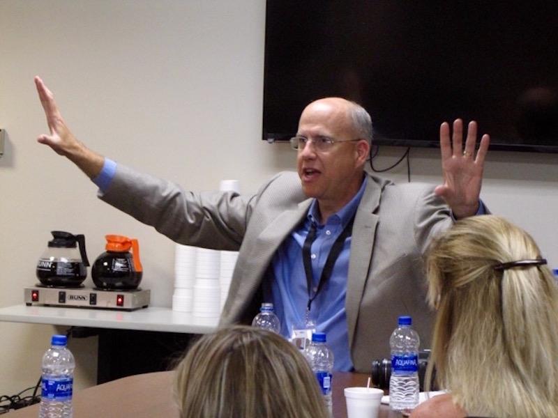 Superintendent Golden takes late-summer listening tour to Centennial High, then returns to Facebook Live
