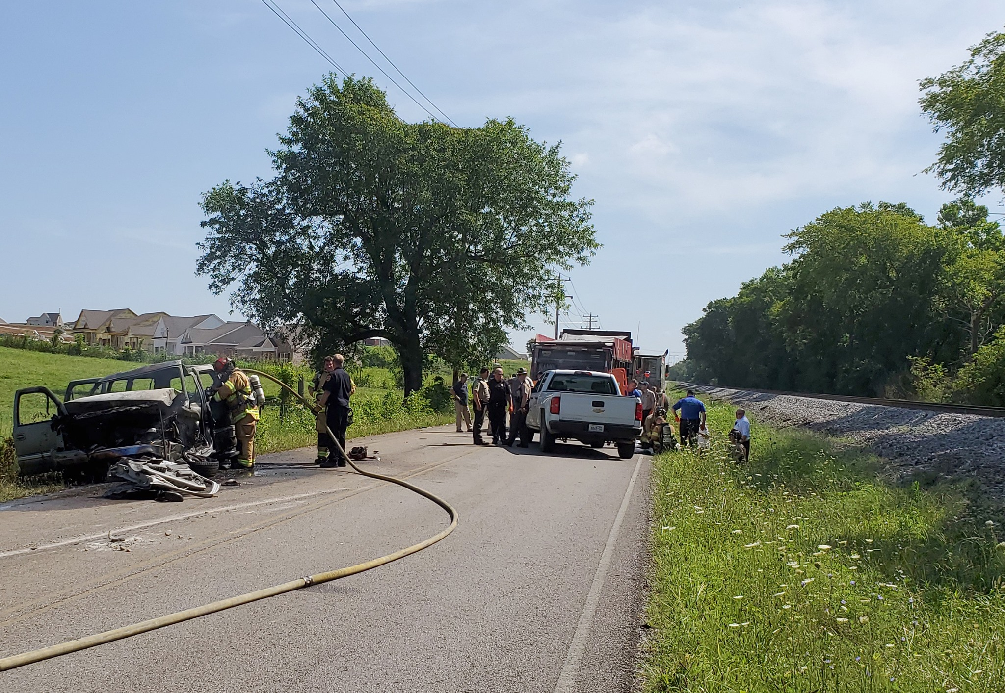 Man rescued from flaming vehicle near Spring Hill in 'stable condition'