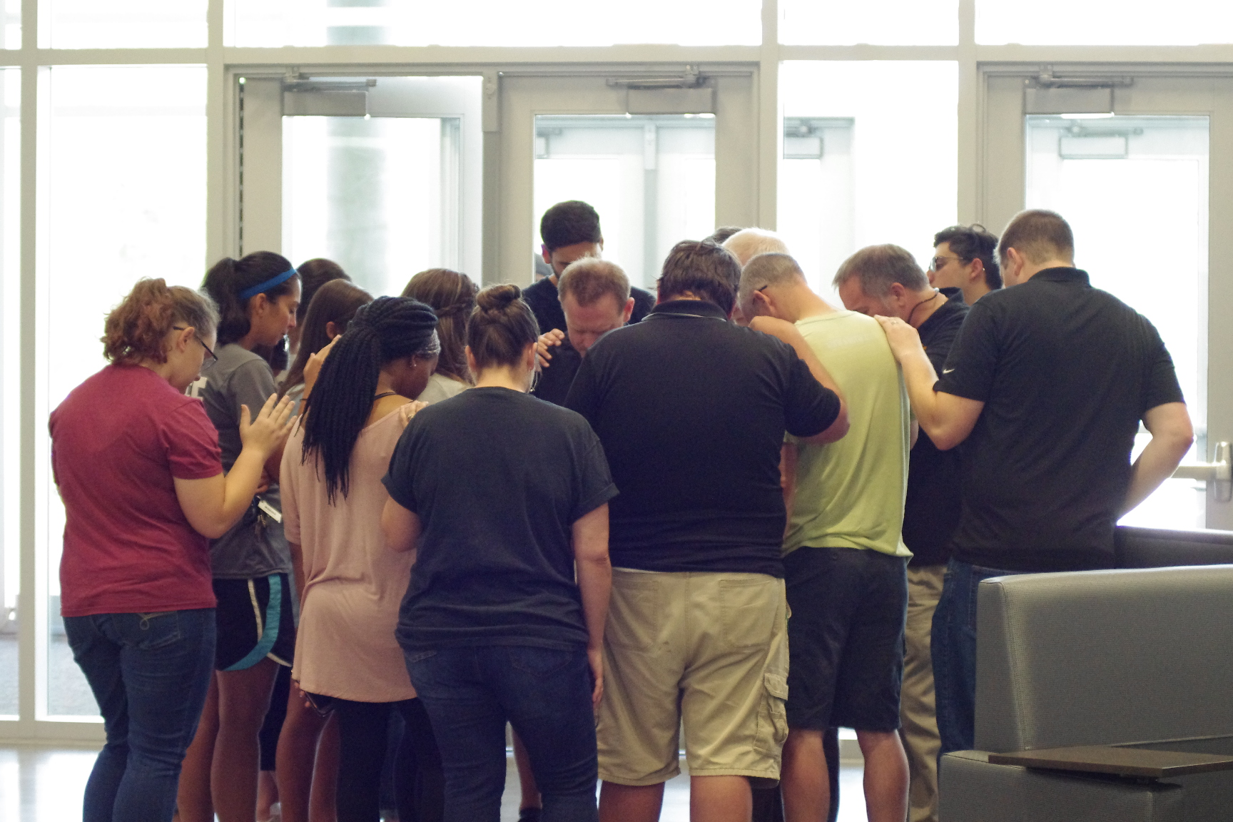 PHOTOS: Local church leaders gather at Battle Creek Middle to pray for students ahead of school year
