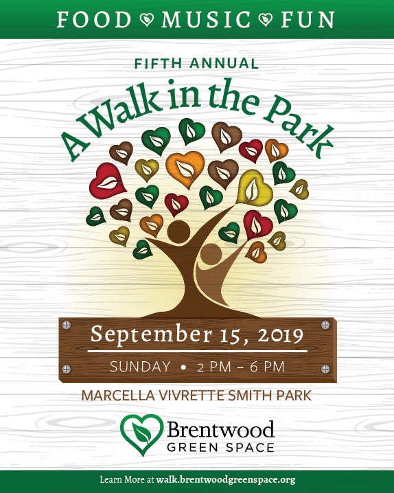 Fifth annual A Walk in the Park fundraising event slated for Sept. 15