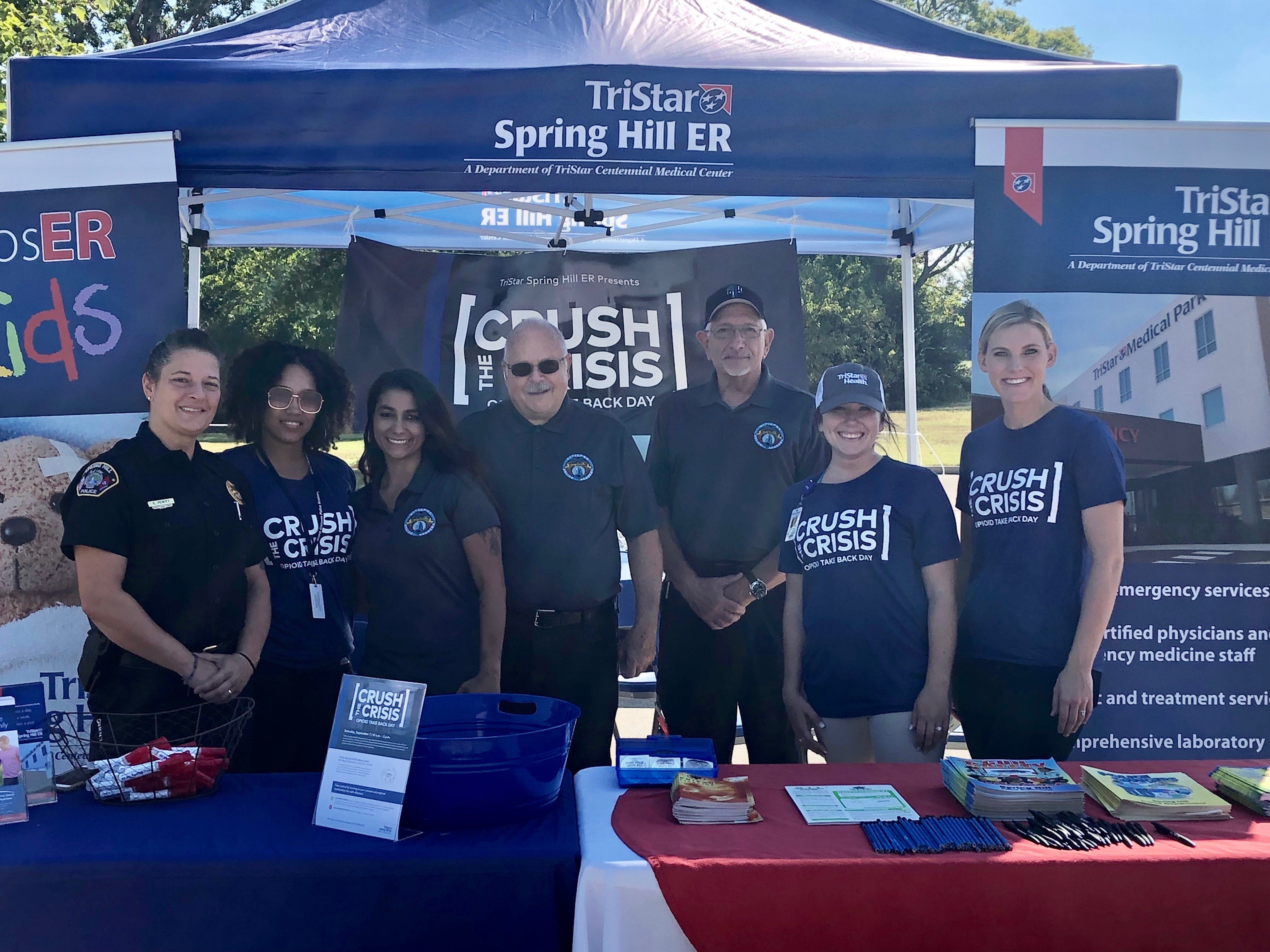 TriStar Spring Hill ER collected more than seven pounds of opioid medications at take back event