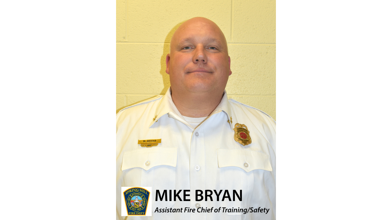 Assistant Chief for Spring Hill Fire Department chosen to serve at National Fallen Firefighters Memorial Weekend in Maryland